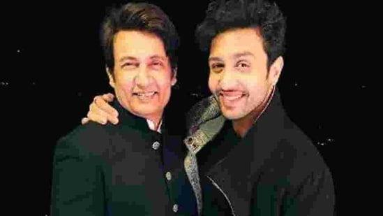 Shekhar Suman with his son Adhyayan Suman.