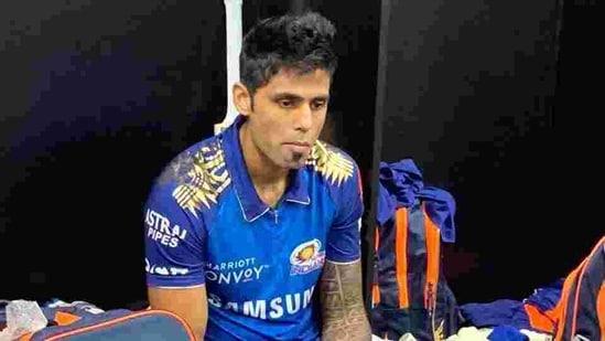 IPL 2020: Mumbai Indians batsman Suryakumar Yadav in the dressing room.(MI/Twitter)