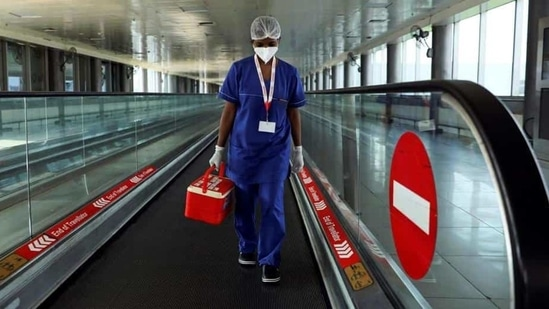 It was identified that between 3 am to 5 am, there will be roughly 1,200 passengers an hour who will undergo mandatory RT-PCR testing.(Reuters photo)