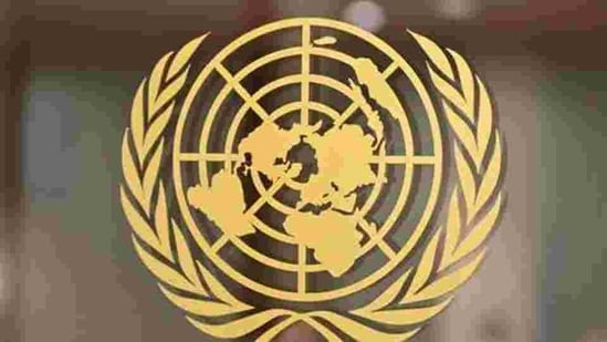 The UN logo at the United Nations headquarters in New York. (HT archive)