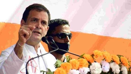 Congress leader Rahul Gandhi.(ANI)