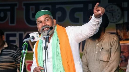 Bharatiya Kisan Union leader Rakesh Tikait.(ANI)