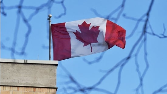 In this file photo, the Canada flag flies above the Canadian embassy in Beijing on January 15, 2019. (AFP)