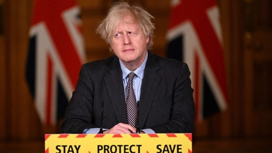 British PM Boris Johnson said the government would hold a review into vaccine certificates.(AFP)