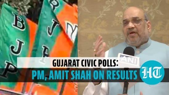 PM Modi, Amit Shah react to Gujarat civic poll results