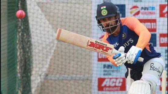 Virat Kohli at the nets.(BCCI/Twitter)
