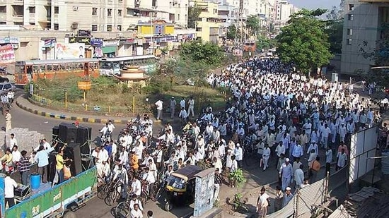 Protesters demand merger of Belagavi district in Karnataka with Maharashtra(HT Archive)