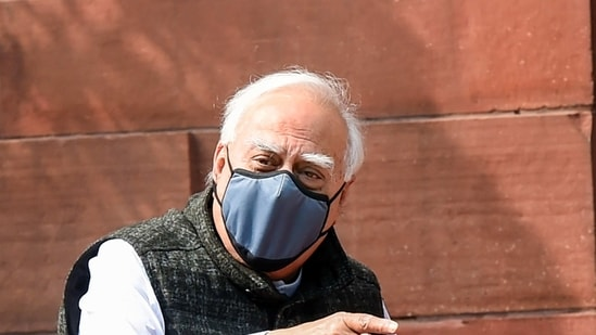 New Delhi: Congress leader Kapil Sibal during the ongoing Budget Session of Parliament, in New Delhi, Thursday, Feb. 11, 2021. (PTI Photo/Manvender Vashist)(PTI02_11_2021_000326A)(PTI)
