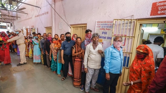 After counting of votes for six municipal corporations in Gujarat began at 9am, early trends till 11am showed that ongoing farmers protest, fuel price rise are not likely to dent the ruling BJP's vote bank locally.(PTI)