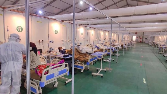 The ITBP Covid Care Centre was inaugurated by Delhi Lieutenant Governor Anil Baijal on July 5, 2020.(PTI)