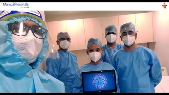 The image shows a screenshot from the video.(Facebook/@ManipalHospitalsIndia)