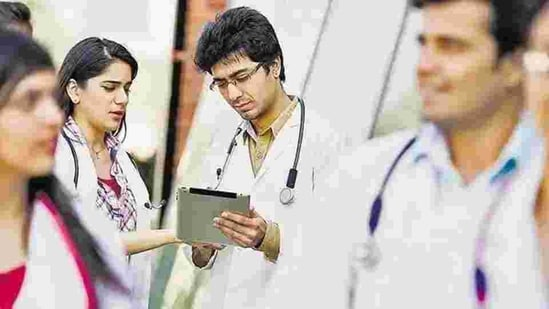The NEET-PG application process will begin at 3pm on Tuesday, February 23.(HT file)