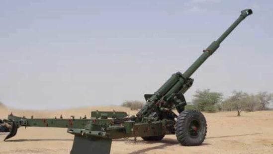 An artillery field gun. (Twitter)