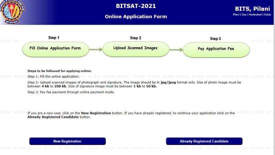 BITSAT 2021.(Screengrab )