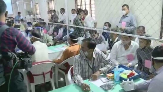Counting of votes for six municipal corporations in Gujarat began at 9am on Tuesday.