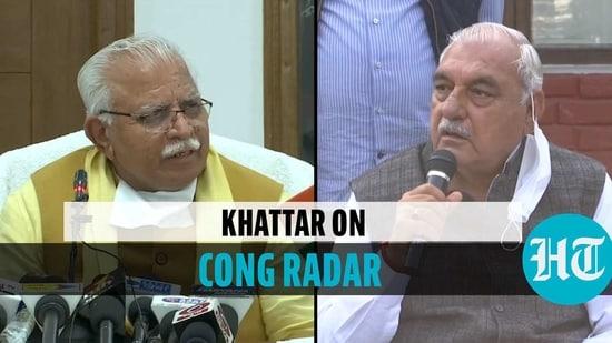 Manohar Lal Khattar & Bhupinder Singh Hooda