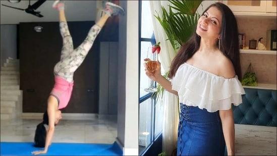 Happy birthday, Baghyashree: Latest fitness motivation from Maine Pyar Kiya star(Instagram/bhagyashree.online)