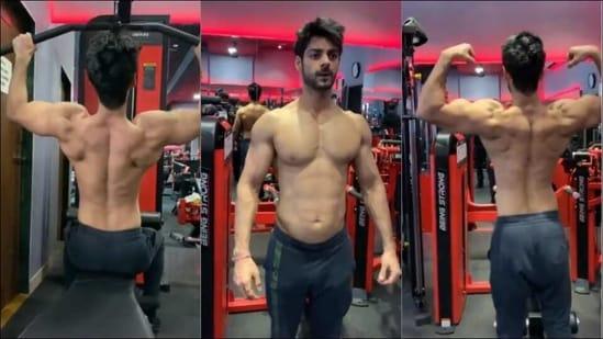 Karan Wahi flaunts ripped back, gives a glimpse of lat pulldown workout at gym(Instagram/karanwahi)