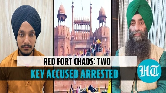Delhi Police arrested two key accused in Red Fort violence of Jan 26