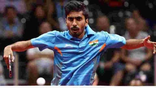 Sathiyan Gnanasekaran of India. File(Getty Images)
