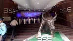 Sensex opened 100 points higher at 49,860 while Nifty traded above 14,700.(ANI)