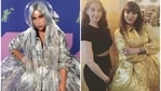 Arshi Khan's look at the Bigg Boss 14 after-party seemed to have been inspired by Lady Gaga's at the MTV VMAs 2020.
