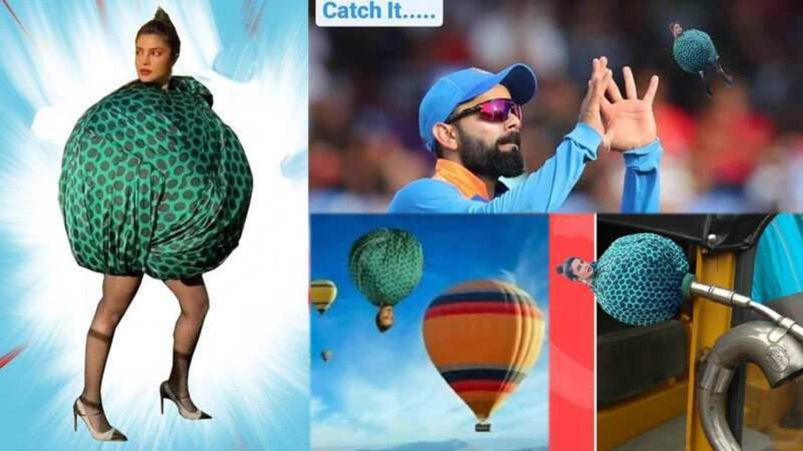 Priyanka Chopra can't stop laughing over 'boriya bistar' memes on her dress, even Virat Kohli is a part of them - Hindustan Times