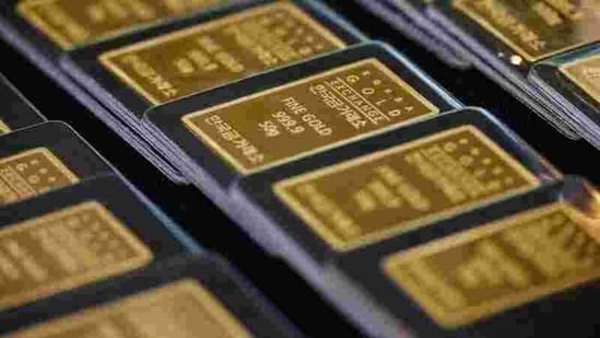 This rise in gold prices comes after the skyrocketing trend of 10-year US Treasury yields saw a decline on Tuesday.(REUTERS)