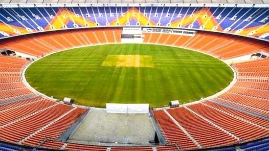 A view of Motera Stadium, the world's biggest cricket stadium. (ANI Photo)