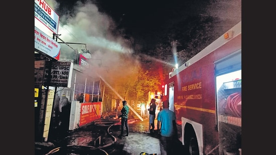 While the fire brigade officials cannot confirm the source of the fire, the suspicion based on the starting point of the fire was that the fire may have started because of a short circuit (HT PHOTO)