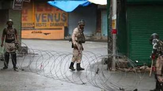 """Referring to the 2019 decision to scrap the special status of J&K, Pujani said: """"We reiterate that the entire union territories of Jammu and Kashmir and Ladakh are an integral and inalienable part of India.""""(AP file photo)"""
