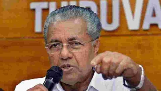 File photo: Kerala chief minister Pinarayi Vijayan's letter objected to Karnataka's requirement for mandatory Covid-19 negative tests from visitors. (HT_PRINT)