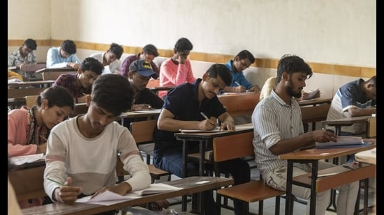 Officials said question papers and answer keys of almost all subjects for classes 6-12 of government institutes in Punjab were landing daily on at least two Youtube channels. (Aalok Soni/HT PHOTO)