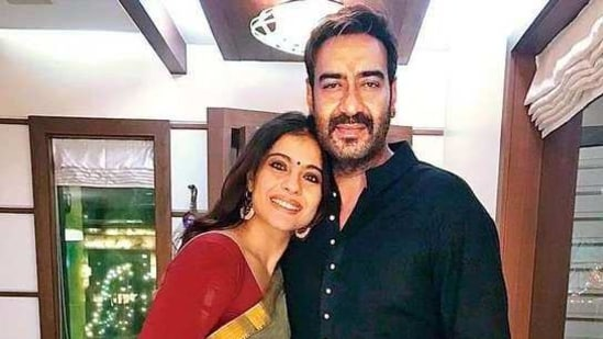 Kajol and Ajay Devgn celebrate their 22nd wedding anniversary on Wedesday.(Twitter)