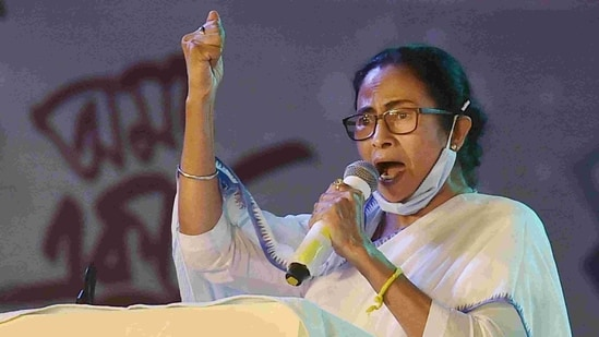 West Bengal chief minister Mamata Banerjee has sharpened her attack on BJP ahead of the assembly elections in state.(PTI)