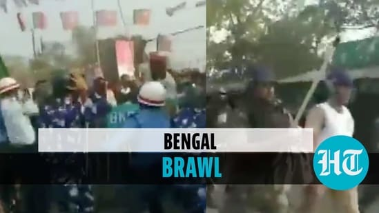 Clash broke out in Bengal's Barrackpore (ANI)