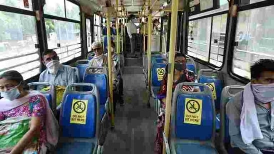 Several buses, though not all, also had posters explaining in Hindi how one should proceed with the online ticket purchase by using the app.(PTI file photo)