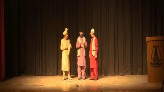 With Kashmir receiving heavy snowfall combined with the threat of the spread of Covid, cultural activities including theatres have been at a standstill.(ANI)