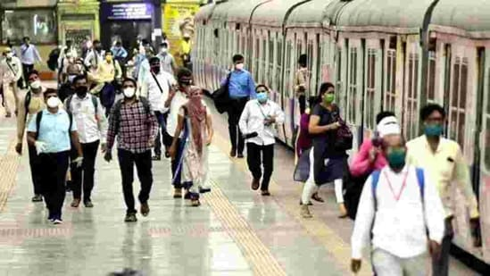 Currently, the Railways have operationalized almost 65 per cent of Mail/Express trains and over 90 per cent of suburban services as compared to pre lockdown times. (HT PHOTO).