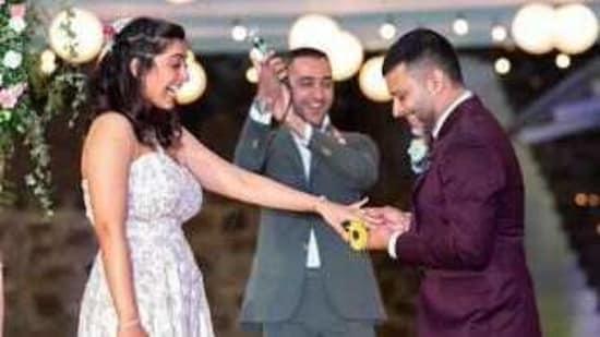 Imran Khan at his cousin Zayn's wedding.