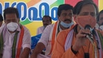"""""""Attended and addressed the satyagraha for fisherfolk in Poonthura, Thiruvananthapuram"""
