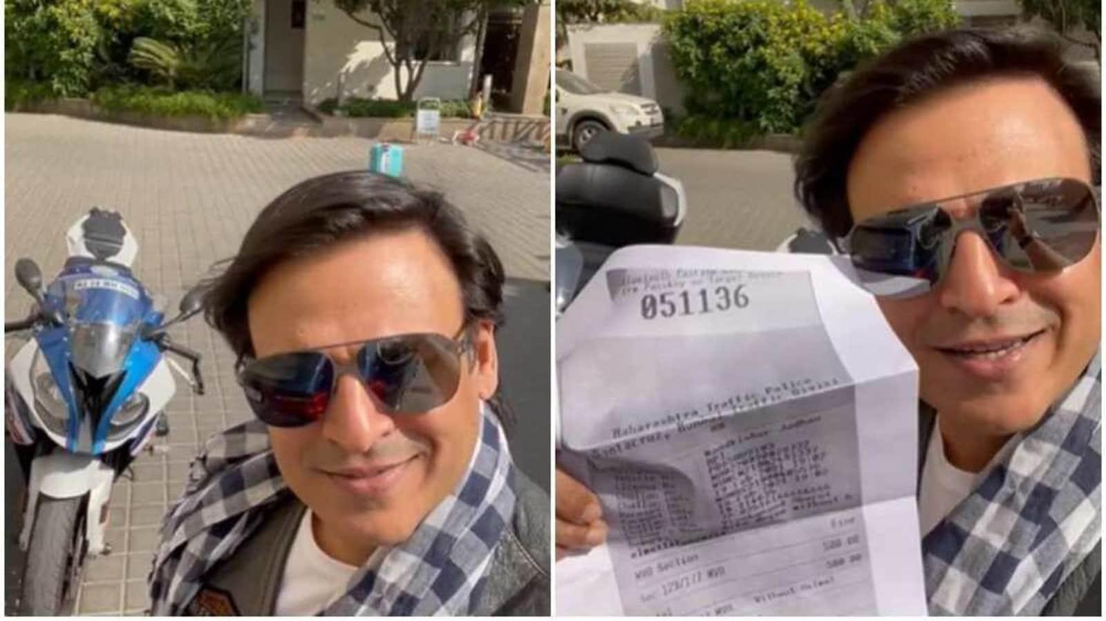 Vivek Oberoi posts hilarious 'Pawri Hori Hai' video with an e-challan for riding bike without helmet - Hindustan Times