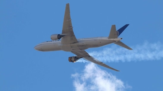United Airlines Flight 328 made an emergency landing in Denver when its right Pratt and Whitney PW4000 series engine failed with a loud bang only minutes after takeoff.(AP)