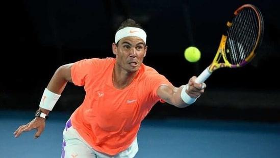 Tennis - Australian Open - Melbourne Park, Melbourne, Australia, February 17, 2021 Spain's Rafael Nadal in action during his quarter final match against Greece's Stefanos Tsitsipas REUTERS/Jaimi Joy(REUTERS)