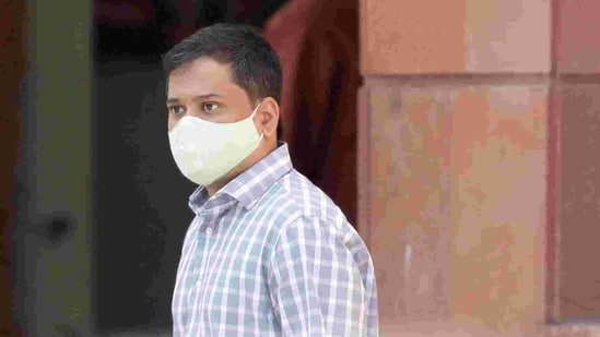 Shantanu Muluk,arrives at National Cyber Forensic Lab for investigation, in New Delhi, February 23, 2021. REUTERS/Adnan Abidi(REUTERS)