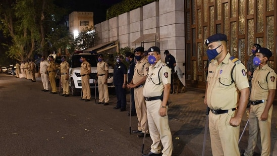 Police clarified that the material found was not an assembled explosive device.(ANI Photo)