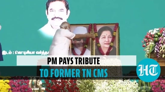 PM pays tribute to former TN CMs