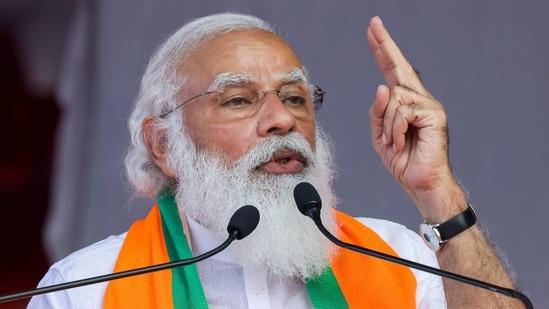 Coimbatore: Prime Minister Narendra Modi addresses public meeting in Coimbatore. (PTI)