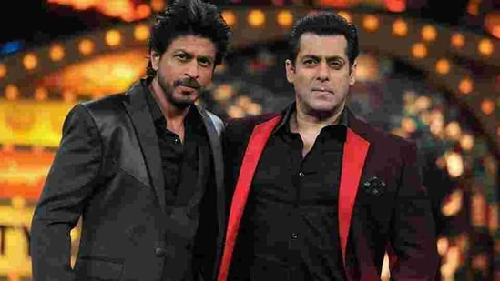 Shah Rukh Khan and Salman Khan on Bigg Boss.(AFP)