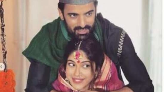 Addite Malik and Mohit Malik during the baby shower.(Instagram)